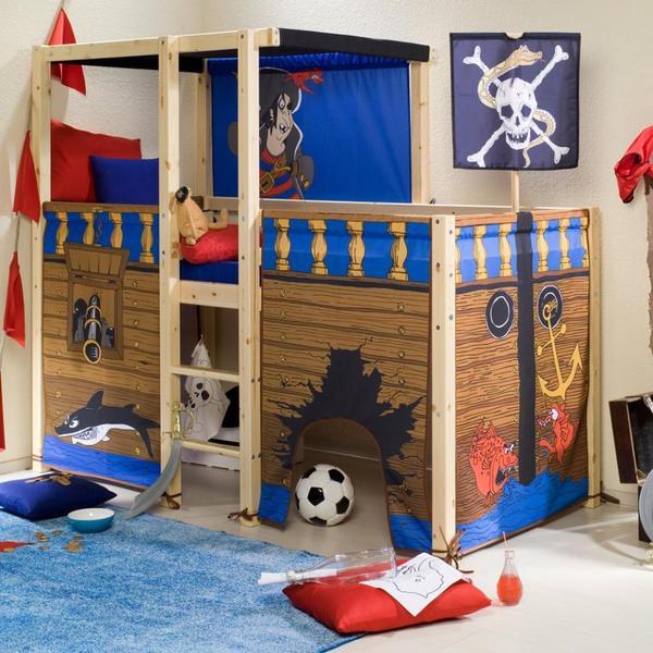 hochbett flexa thuka pirat in hamburg betten kaufen und. Black Bedroom Furniture Sets. Home Design Ideas