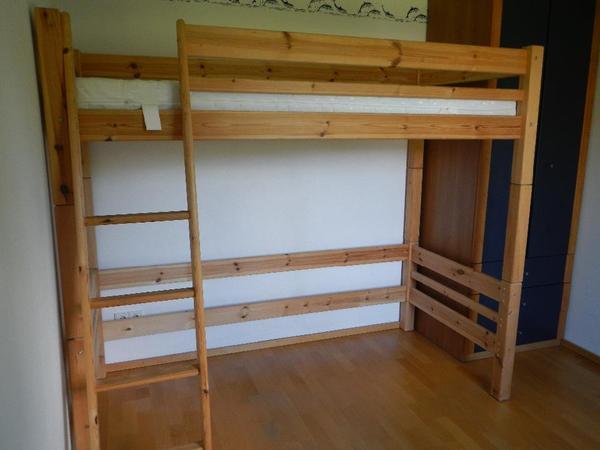 hochbett john von m belum f r matratze lattenrost 200x90cm. Black Bedroom Furniture Sets. Home Design Ideas