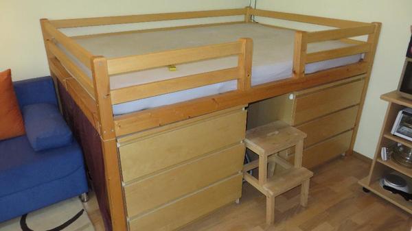 hochbett treppe neu und gebraucht kaufen bei. Black Bedroom Furniture Sets. Home Design Ideas