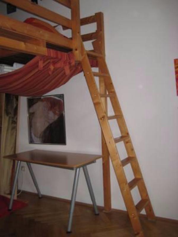 Hochbett od galerie 180x200 holz geölt in münchen   kinder ...