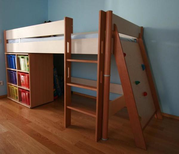 hochbett paidi ondo mit kletterwand in m nchen kinder. Black Bedroom Furniture Sets. Home Design Ideas