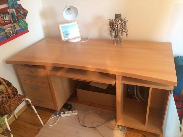 Hochwertiger gro er schreibtisch in germersheim for Schreibtisch druckerfach
