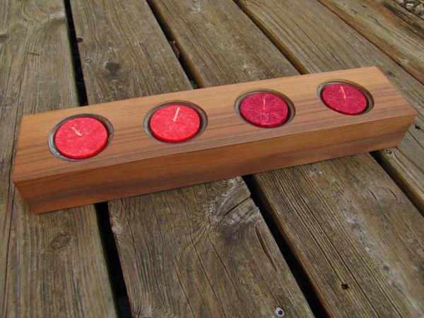 Holz kerzenst nder teelichthalter dekoartikel for Dekoartikel holz