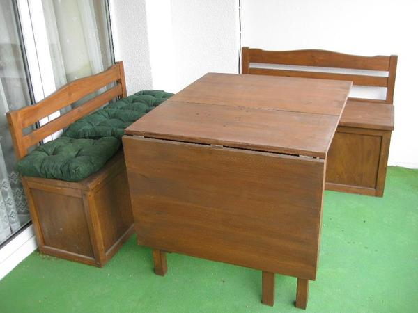holz sitzgruppe 2 gartenm bel. Black Bedroom Furniture Sets. Home Design Ideas