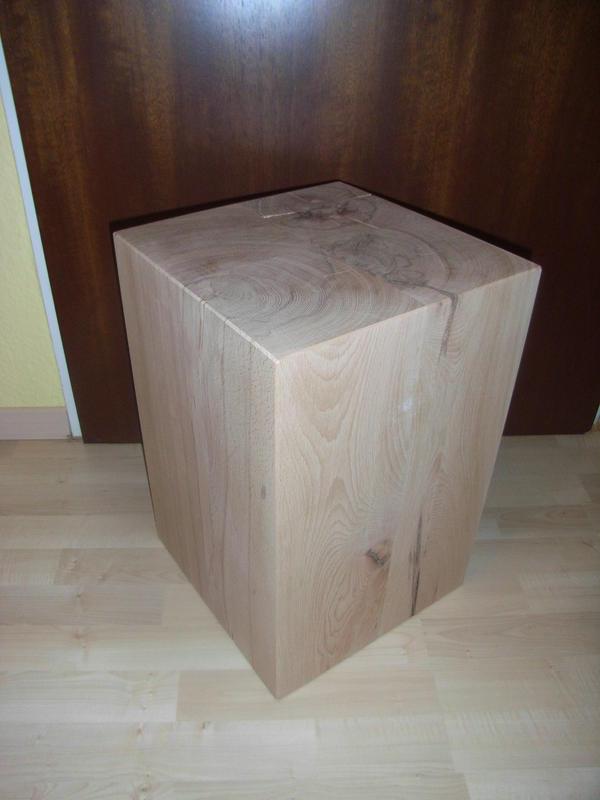 holzblock holzw rfel holzklotz hocker tisch ablage kubus massiv buche holz kleinanzeigen aus. Black Bedroom Furniture Sets. Home Design Ideas