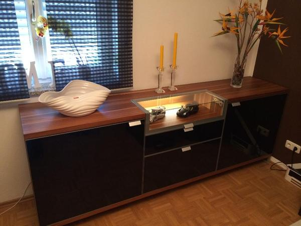 h lsta tameta sideboard wohnzimmer b ro diele in unterf hring wohnzimmerschr nke anbauw nde. Black Bedroom Furniture Sets. Home Design Ideas