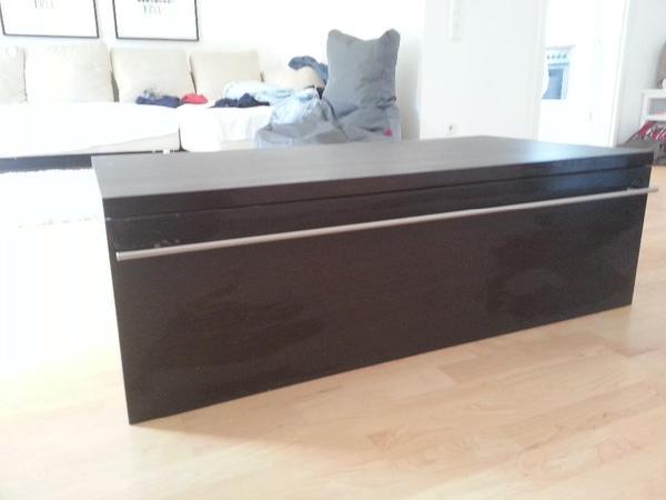 h lta tv phono schrank 120 cm lang 60 cm breit 40 cm hoch dunkelbraun mit silbernem griff. Black Bedroom Furniture Sets. Home Design Ideas