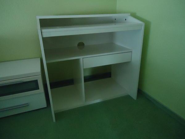 ikea computertisch schreibtisch goliat in weiss wie neu in. Black Bedroom Furniture Sets. Home Design Ideas
