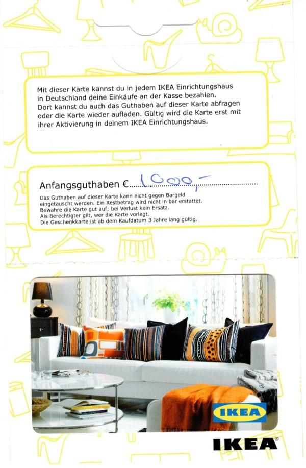 ikea gutschein wert euro f r 890 euro in frankfurt. Black Bedroom Furniture Sets. Home Design Ideas