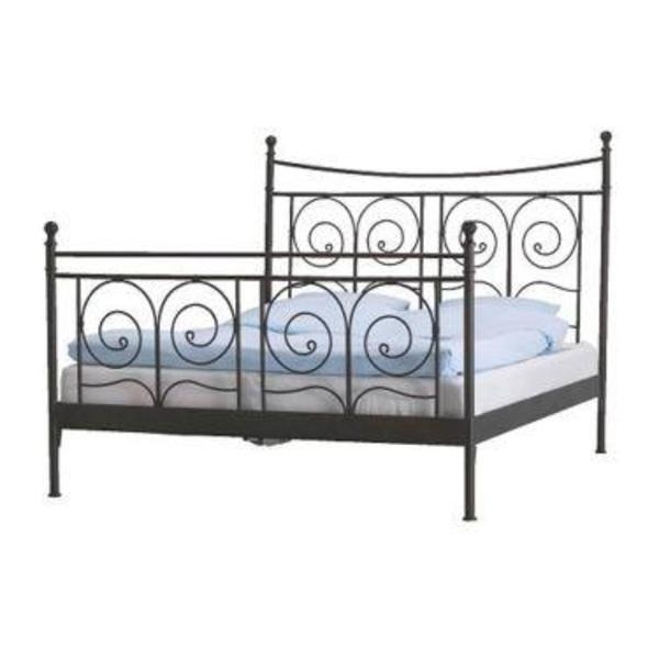 ikea metallbett schwarz 180x200 noresund in berlin betten kaufen und verkaufen ber private. Black Bedroom Furniture Sets. Home Design Ideas