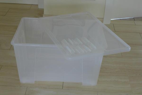 ikea samla box 130 liter transparent aufbewahrung. Black Bedroom Furniture Sets. Home Design Ideas