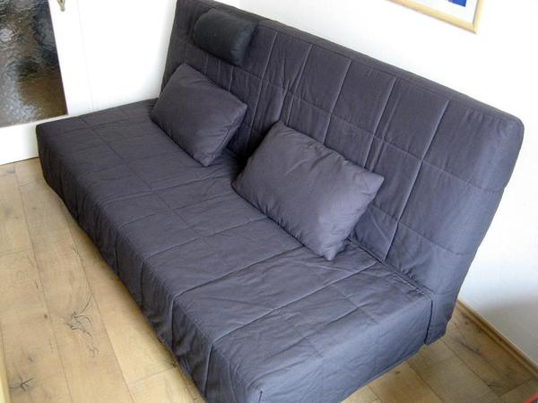 ikea schlafsofa beddinge mit dunkelgrauem bezug in m nchen polster sessel couch kaufen und. Black Bedroom Furniture Sets. Home Design Ideas