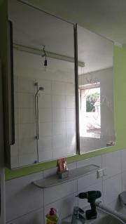 Ikea spiegelschrank 39 molger 39 f rs bad in walnuss holz in - Spiegelschrank molger ...