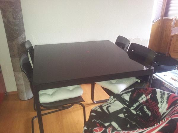 ich verkaufe einen esstisch typ norrsten mit vier st hlen typ tobias beides von ikea der. Black Bedroom Furniture Sets. Home Design Ideas