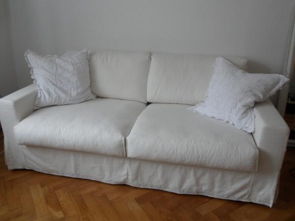 interprofil hussensofa in wei leinen baumwolle in m nchen polster sessel couch kaufen und. Black Bedroom Furniture Sets. Home Design Ideas
