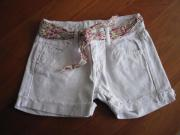 Jeansshorts weiss Gr.