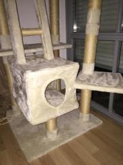 Katzenbaum deckenhoch, beige;