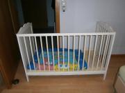Kinderbett weiß 120x60