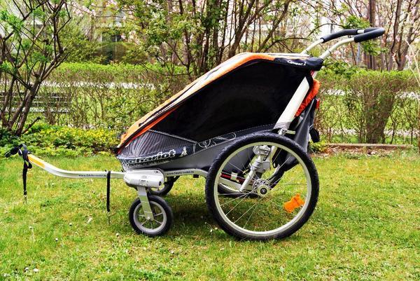 kinderfahrradanh nger chariot cougar 1 mit buggyset in. Black Bedroom Furniture Sets. Home Design Ideas