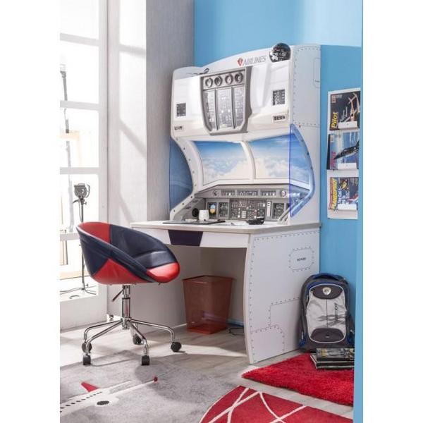 kinderschreibtisch jugendschreibtisch mit flugzeug design von cilek first class in passau. Black Bedroom Furniture Sets. Home Design Ideas