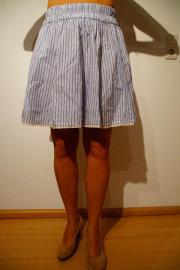Kleid gestreift blau