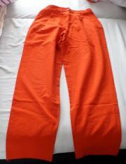 knallig orange Baumwollhose