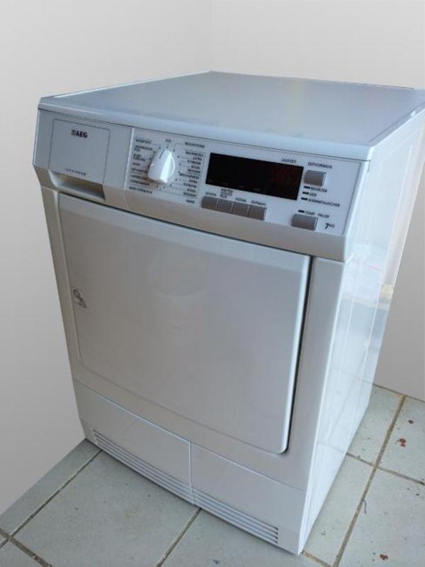 kondenstrockner aeg lavatherm t56845l in reinheim trockner kaufen und verkaufen ber private. Black Bedroom Furniture Sets. Home Design Ideas