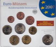 Kursmünzensatz Deutschland 2007