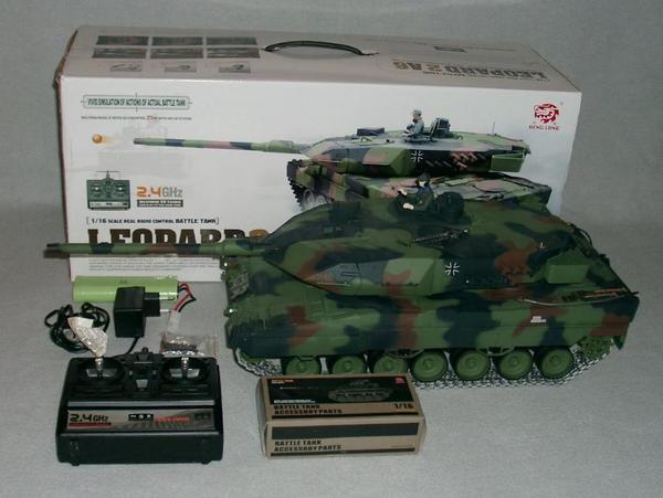 leopard 2a6 panzer rc 1 16 2 4ghz 4 1 pro stahlgetriebe ovp in n rnberg rc modelle modellbau. Black Bedroom Furniture Sets. Home Design Ideas