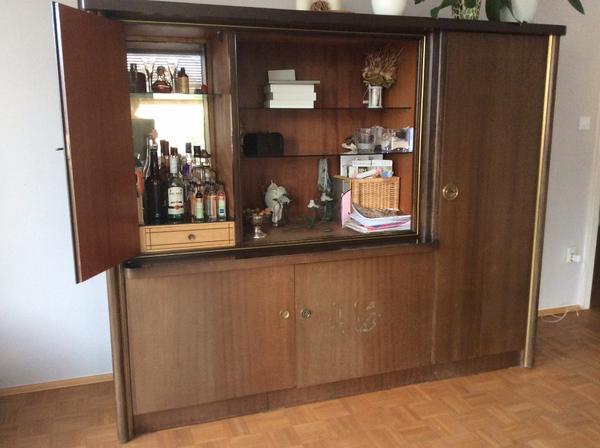 Liebhaberstück: 50er Jahre Schrank Mit Bar Und Viel