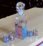 Likörflasche mit 4