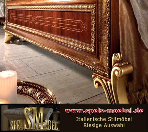 luxus m bel komplett schlafzimmer giotto canaletto nussbaum gold italienische klassische. Black Bedroom Furniture Sets. Home Design Ideas
