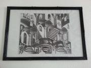 """M.C. Escher-Puzzle """"Konkav und Konvex"""" im Rahmen gebraucht kaufen  Leipzig Gohlis-Süd"""
