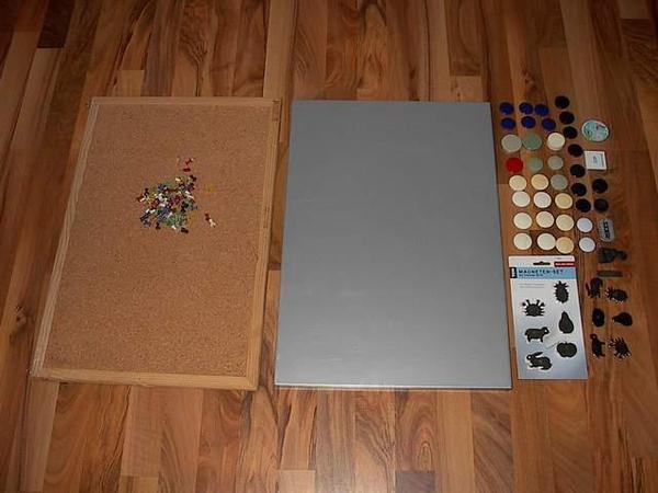 magnet pinnwand magnettafel pinnwand kork pinnwand in wiesloch haushaltsger te hausrat. Black Bedroom Furniture Sets. Home Design Ideas