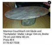 Couchtische marmor in neckargem nd haushalt m bel for Marmor tischplatte oval
