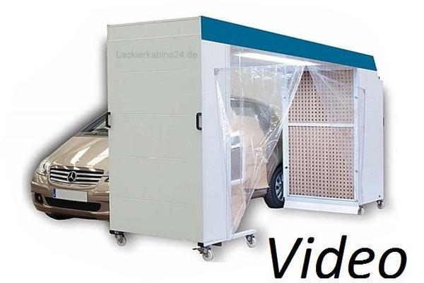 mobile geschlossene lackierbox smart repair lackierkabine. Black Bedroom Furniture Sets. Home Design Ideas