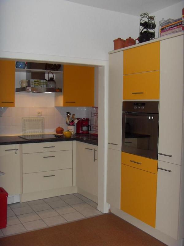 moderne k che sonnengelb gratis dazu 1 k hl. Black Bedroom Furniture Sets. Home Design Ideas
