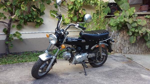 moped skyteam skymax xl 5 liter dax 50ccm club schwarz. Black Bedroom Furniture Sets. Home Design Ideas
