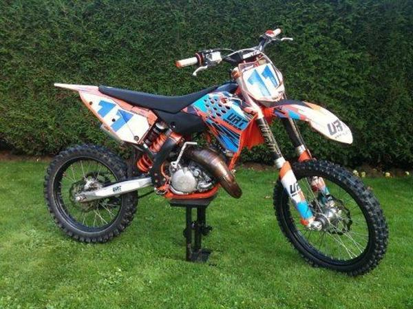 motocross ktm sxs 125 enduro exc rennmaschine 2007 125 ccm. Black Bedroom Furniture Sets. Home Design Ideas