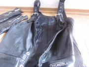 Motorrad - Latzlederhose - schwarze