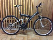 Mountainbike, schwarz, 26