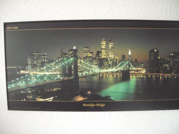 new york brooklyn bridge zwillingst rme led wandbild in. Black Bedroom Furniture Sets. Home Design Ideas