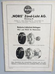 Noris Lichtmaschinenbeschreibung MLZ /
