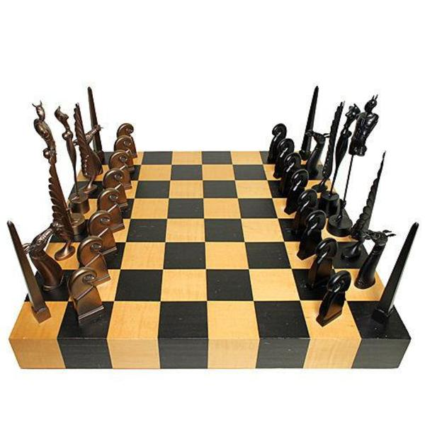 paul wunderlich original bronzeskulpturenset schachspiel in frankfurt kunst gem lde. Black Bedroom Furniture Sets. Home Design Ideas