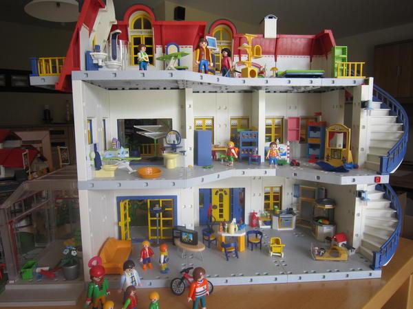 Playmobil haus 3965 zusatzerweiterung 7337 reiterhof for Modernes haus playmobil