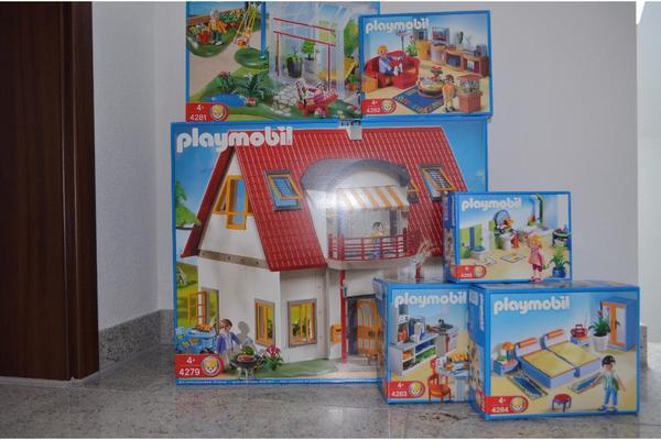 Playmobil haus 4279 neues wohnhaus mit allen zimmern und for Playmobil haus schlafzimmer