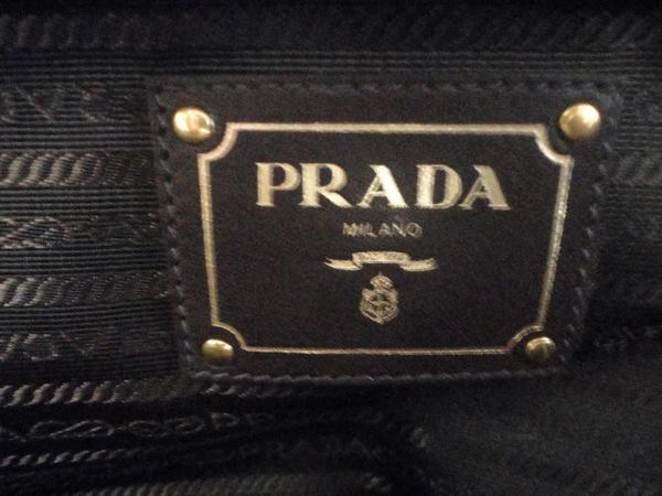 prada navy blue fabric bag. Black Bedroom Furniture Sets. Home Design Ideas