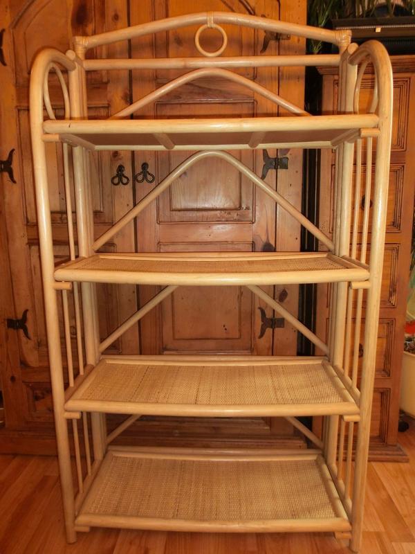 rattanregal regal rattan zusammenklappbar faltbar 132x76x32 11 in berlin regale kaufen und. Black Bedroom Furniture Sets. Home Design Ideas