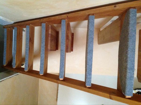 Raumspartreppe Holztreppe Massiv Holz Mit Schreibtisch