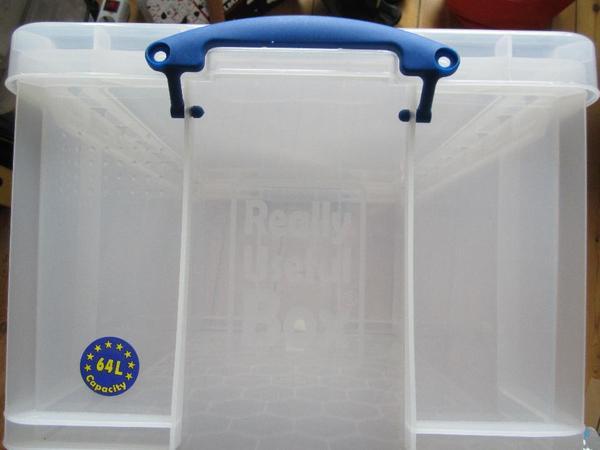 really useful boxen 64 l umzug aufbewahrung kleiderboxen ordnungssysteme in hamburg. Black Bedroom Furniture Sets. Home Design Ideas